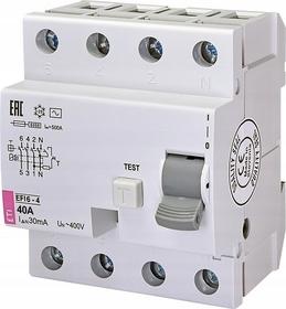 Wyłącznik różnicowoprądowy 4P 40A 0,03A typ AC EFI6-4