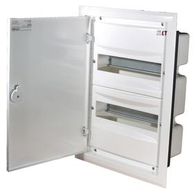 Rozdzielnia p/t biała  ERP12-2, drzwiczki metalowe