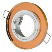 Oprawka stała okrągła szklana CT-7002 brązowa