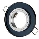 Oprawka stała okrągła szklana CT-7002 czarna
