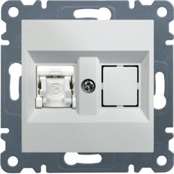 Gniazdo 1xRJ45 Cat.5e UPT biały