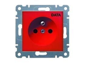Gniazdo DATA 2P+E czerwone