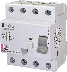Wyłącznik różnicowo prądowy 4P 40A 0,03A , AC AC EFI 6-4