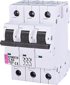 Wyłącznik nadprądowy 3P 6kA C63A