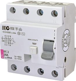 Wyłącznik różnicowoprądowy 4P 25A 0,03A, AC