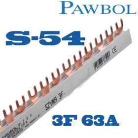 Szyna prądowa 3Faz., S-54 63A