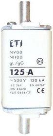 Wkładka topikowa przemysłowa WT-00 gG/125A 500V