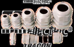 Dławik kablowy z nakrętką, plastikowy, IP-66,  PG-21, 14-18mm