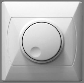 Ściemniacz przyciskowo-obrotowy Biały AKCENT Ospel