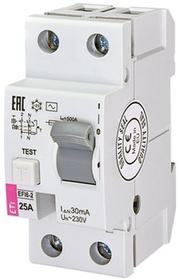 Wyłącznik różnicowoprądowy 2P 25A 0,03A AC EFI6-2