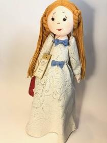 Lalka Anioł duża ruda kolekcjonerska 100% rękodzieło