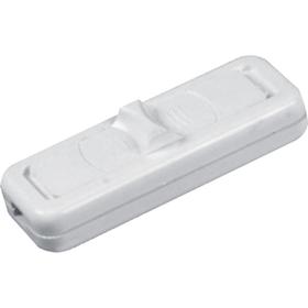 Wyłącznik suwakowy, przelotowy lub końcowy, 1-torowy, 2,5A/250V biały