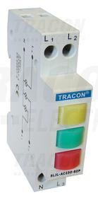 Trójfazowa lampka sygnalizacyjna LED, zielona/zółta/czerwona, 3x230V AC