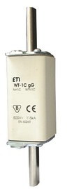 Wkładka topikowa przemysłowa zwłoczna 125A gG WT-1C