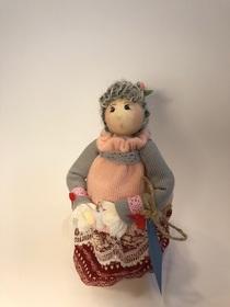 Lalka babcia ze świecą kolekcjonerska 100% rękodzieło