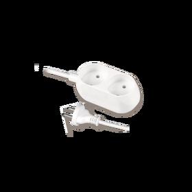 Przedłużacz z dwukrotnym gniazdem wtyczkowym 2x2p+Z, 10A