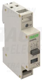 Przełącznik modułowy z sygnalizacją, 230V, 50Hz, 1NO+1NC, LED, Ith: 16A, AC-14, le: 6A