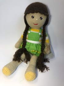 Lalka Ami z warkoczami przytulanka 100% rękodzieło