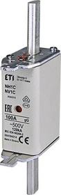 Wkładka bezpiecznikowa KOMBI NH1C 100A gG/gL 500V WT-1C