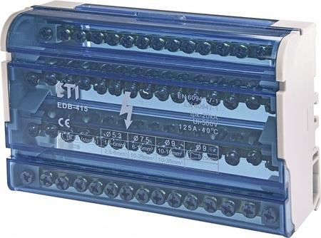 Blok rozdzielczy 125A 4x15 zacisków EDB-415 (1)