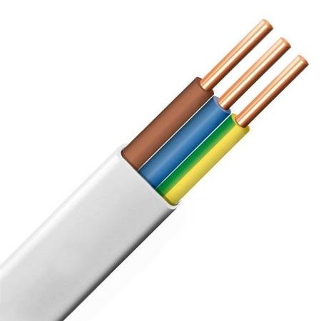 Przewód YDYp 3x2,5 450/750V biały / 1mb POLSKI PRODUCENT (1)