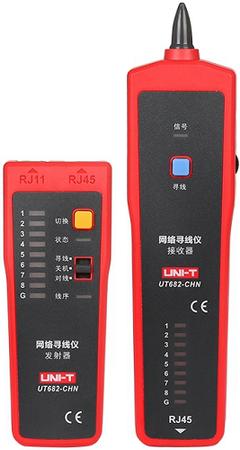 Miernik - szukacz par przewodów z testerem kabli RJ-45 UNI-T UT682 (1)